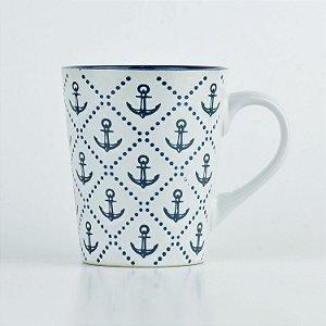 Caneca Mar Âncora em Cerâmica