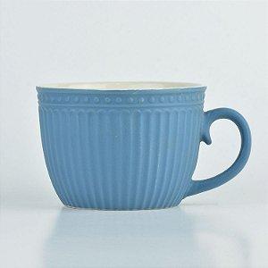 Caneca Retro Azul em Cerâmica