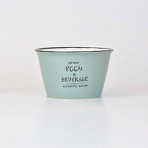 Bowl Food & Beverage Cinza em Cerâmica