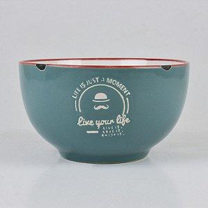 Bowl Your Life Azul Claro em Cerâmica