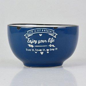Bowl Your Life Azul em Cerâmica