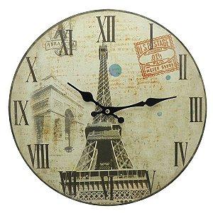 Relógio Torre Eiffel em Madeira