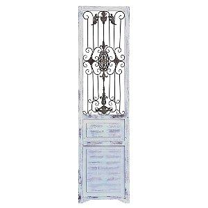 Enfeite Porta Decorativa Glam madeira e metal