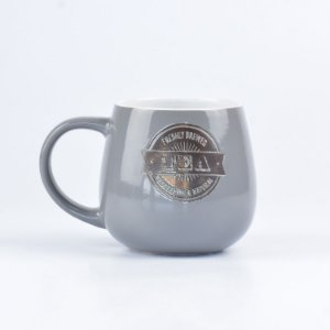 Caneca Coffee Rounded Cinza