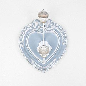 Cabideiro Rustico Coração Branco
