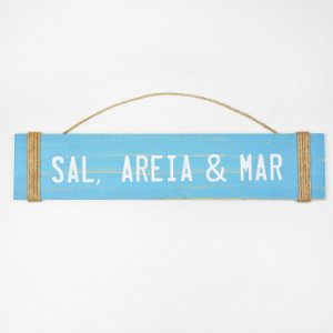 Placa Sal, Areia e Mar Azul Claro