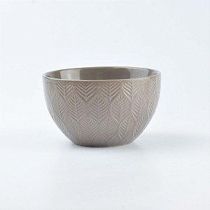 Bowl Lines Marrom em Cerâmica