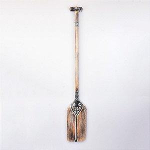 Remo Aborigene Preto e Marrom Quadrado 130 cm