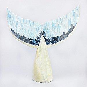 Enfeite Cauda de Baleia com Mosaico