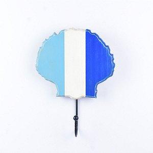 Cabideiro Concha Azul e Branco
