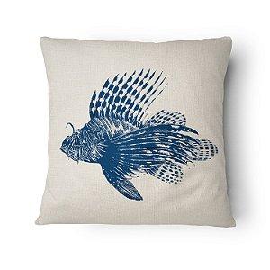 Almofada Náutica Peixe Leão Blue