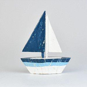 Enfeite Veleiro Azul e Branco