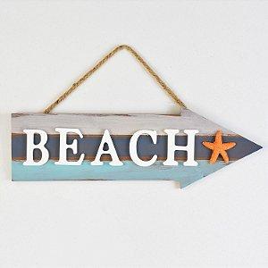 Placa Decor Seta Beach Estrela