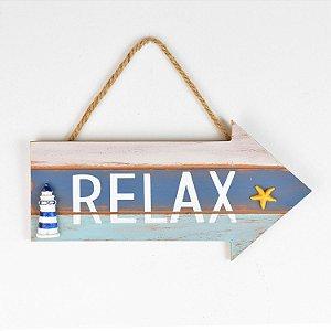 Placa Decor Seta Relax