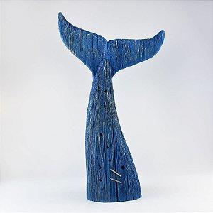 Cauda Baleia Envelhecida Azul