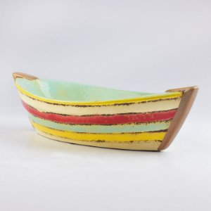 Petisqueira Barco Color em Cerâmica