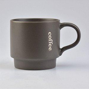 Caneca Modern Coffee Cinza