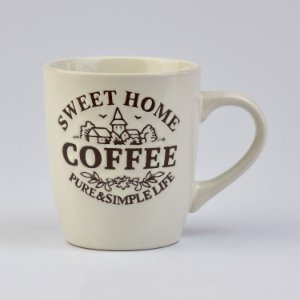 Caneca Bege Home Coffee