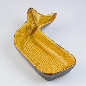Petisqueira Baleia Amarela em Cerâmica