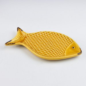 Petisqueira Peixe Amarelo em Cerâmica