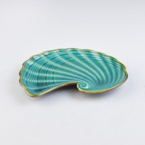 Petisqueira Concha Azul P em Cerâmica
