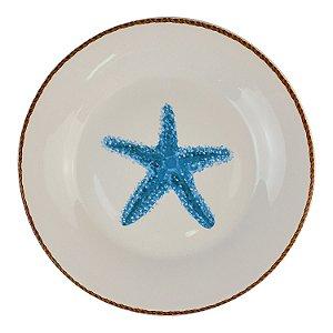 Prato de Sobremesa Náutico Estrela do Mar Azul