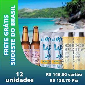 Kit Baixa Caloria 12 garrafas - Frete Grátis Sudeste do Brasil