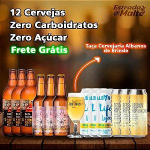 Kit 12 cervejas Zero Carboidratos