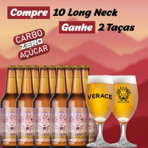 Kit Verace Lager Low Carb + Taças