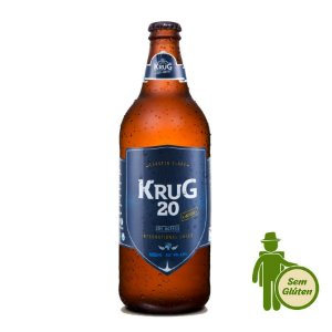 Cerveja Krug 20 International Lager sem glúten 600ml