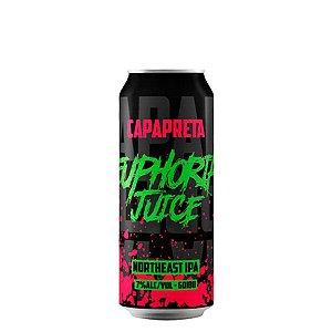 Cerveja Capa Preta Euphoria Juice Northeast IPA 473ml