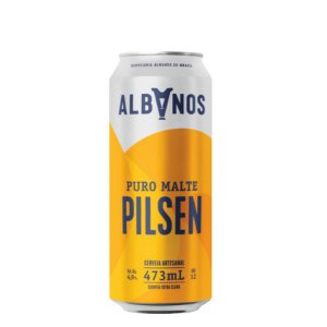 Cerveja Albanos Pilsen Puro Malte 473ml