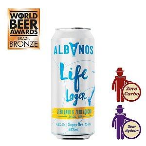 Cerveja Albanos Life Lager 473ml | Zero Carboidrato