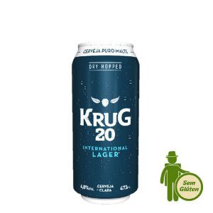 Cerveja Krug 20 International Lager sem glúten 473ml