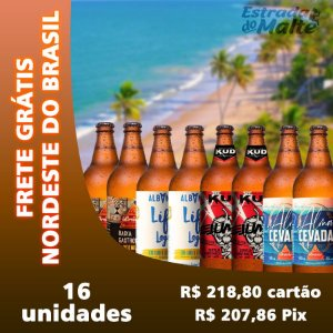 Kit Baixa Caloria 16 garrafas - Frete Grátis Nordeste do Brasil