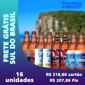 Kit Baixa Caloria 16 garrafas - Frete Grátis Sul do Brasil