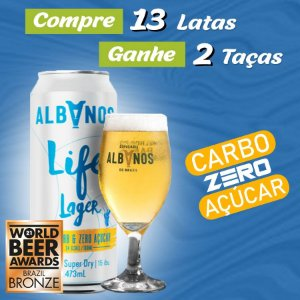 Kit 13 latas 473ml Albanos Life Lager