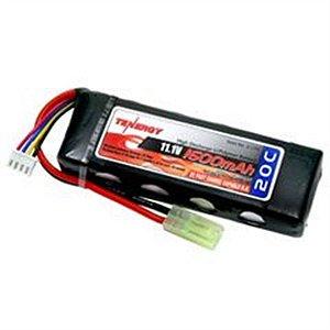 Bateria Tenergy LI-Po 11,1v 1600mah 20C Mini Flat Style