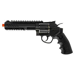 """Pistola  Valken Revolver 6"""" C02 Metal-6mm-BLK"""
