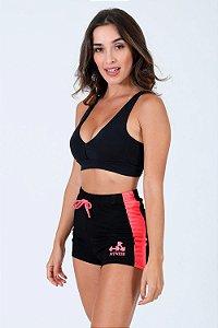 Shorts cós com elástico bicolor fitness