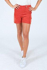 Shorts veludo cotelê com detalhe de botões