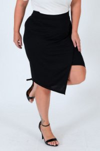 Saia transpassada  plus size