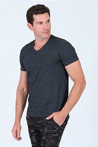 Camiseta gola v básica