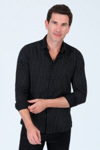 Camisa estampada manga longa