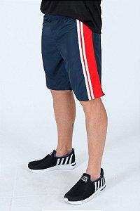 Bermuda fitness com faixa lateral