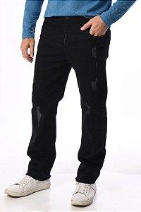 Calça jeans black slim com puidos