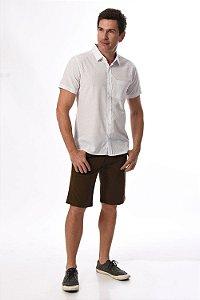 Camisa manga curta slim estampada