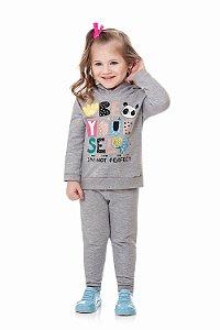 Conjunto infantil blusa manga longa e calça