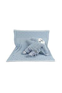 Saída maternidade menino plush tricot com manta