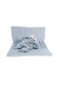 Saída maternidade menino plush tricot com manta julio